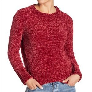 Romeo and Juliet Couture Red Chenille Sweater